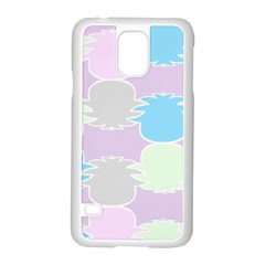 Pineapple Puffle Blue Pink Green Purple Samsung Galaxy S5 Case (white)