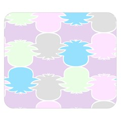 Pineapple Puffle Blue Pink Green Purple Double Sided Flano Blanket (small)