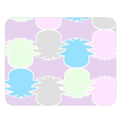 Pineapple Puffle Blue Pink Green Purple Double Sided Flano Blanket (large)  by Alisyart