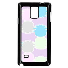 Pineapple Puffle Blue Pink Green Purple Samsung Galaxy Note 4 Case (black)