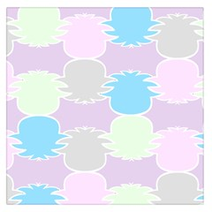 Pineapple Puffle Blue Pink Green Purple Large Satin Scarf (square)