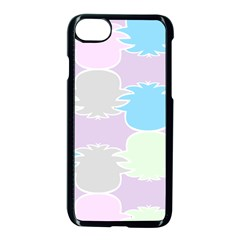 Pineapple Puffle Blue Pink Green Purple Apple Iphone 7 Seamless Case (black) by Alisyart
