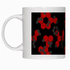 Red Digital Camo Wallpaper Red Camouflage White Mugs by Alisyart