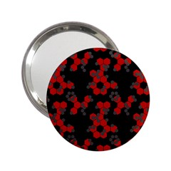 Red Digital Camo Wallpaper Red Camouflage 2 25  Handbag Mirrors