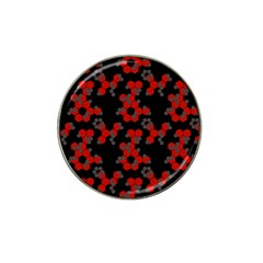 Red Digital Camo Wallpaper Red Camouflage Hat Clip Ball Marker (4 Pack)