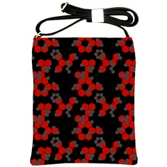 Red Digital Camo Wallpaper Red Camouflage Shoulder Sling Bags by Alisyart