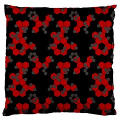 Red Digital Camo Wallpaper Red Camouflage Large Cushion Case (two Sides) by Alisyart