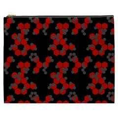 Red Digital Camo Wallpaper Red Camouflage Cosmetic Bag (xxxl)  by Alisyart