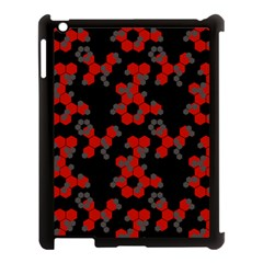 Red Digital Camo Wallpaper Red Camouflage Apple Ipad 3/4 Case (black) by Alisyart