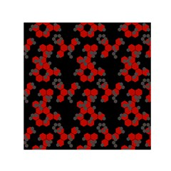 Red Digital Camo Wallpaper Red Camouflage Small Satin Scarf (square)