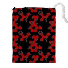 Red Digital Camo Wallpaper Red Camouflage Drawstring Pouches (xxl) by Alisyart