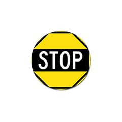 Road Sign Stop Golf Ball Marker by Alisyart
