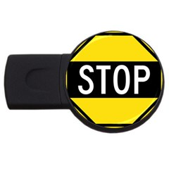 Road Sign Stop Usb Flash Drive Round (4 Gb) by Alisyart