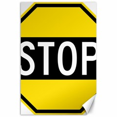 Road Sign Stop Canvas 24  X 36  by Alisyart