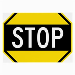 Road Sign Stop Large Glasses Cloth (2 Side)