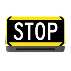 Road Sign Stop Memory Card Reader With Cf by Alisyart
