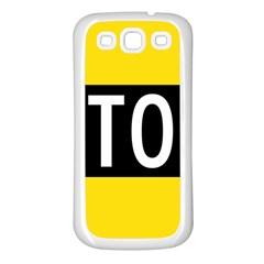 Road Sign Stop Samsung Galaxy S3 Back Case (white)