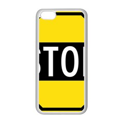 Road Sign Stop Apple Iphone 5c Seamless Case (white)