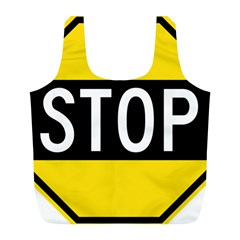 Road Sign Stop Full Print Recycle Bags (l)  by Alisyart