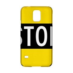 Road Sign Stop Samsung Galaxy S5 Hardshell Case