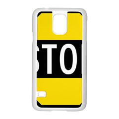 Road Sign Stop Samsung Galaxy S5 Case (white)