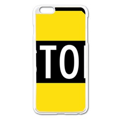Road Sign Stop Apple Iphone 6 Plus/6s Plus Enamel White Case by Alisyart
