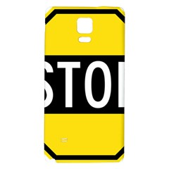 Road Sign Stop Galaxy Note 4 Back Case