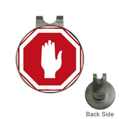 Road Sign Stop Hand Finger Hat Clips With Golf Markers by Alisyart