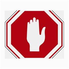 Road Sign Stop Hand Finger Small Glasses Cloth (2 Side)