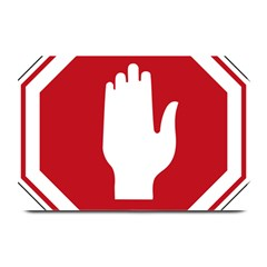 Road Sign Stop Hand Finger Plate Mats by Alisyart