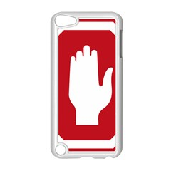 Road Sign Stop Hand Finger Apple Ipod Touch 5 Case (white) by Alisyart