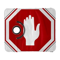 Road Sign Stop Hand Finger Galaxy S3 (flip/folio)
