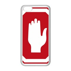 Road Sign Stop Hand Finger Apple Iphone 5c Seamless Case (white) by Alisyart