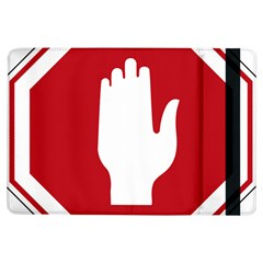 Road Sign Stop Hand Finger Ipad Air Flip by Alisyart