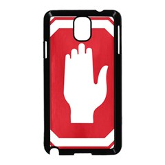 Road Sign Stop Hand Finger Samsung Galaxy Note 3 Neo Hardshell Case (black)