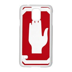Road Sign Stop Hand Finger Samsung Galaxy S5 Case (white)