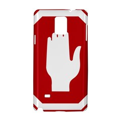 Road Sign Stop Hand Finger Samsung Galaxy Note 4 Hardshell Case by Alisyart