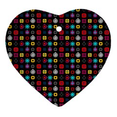 N Pattern Holiday Gift Star Snow Heart Ornament (two Sides) by Alisyart