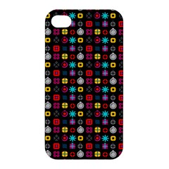 N Pattern Holiday Gift Star Snow Apple Iphone 4/4s Hardshell Case by Alisyart