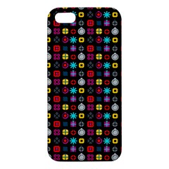 N Pattern Holiday Gift Star Snow Apple Iphone 5 Premium Hardshell Case