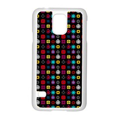 N Pattern Holiday Gift Star Snow Samsung Galaxy S5 Case (white)