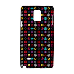 N Pattern Holiday Gift Star Snow Samsung Galaxy Note 4 Hardshell Case by Alisyart