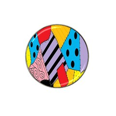 Sally s Patchwork Pattern Hat Clip Ball Marker by Alisyart