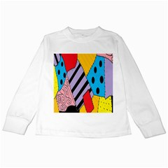 Sally s Patchwork Pattern Kids Long Sleeve T-shirts by Alisyart