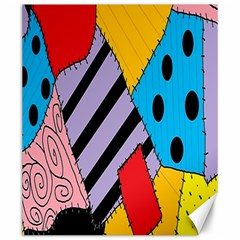 Sally s Patchwork Pattern Canvas 20  X 24   by Alisyart