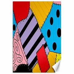 Sally s Patchwork Pattern Canvas 20  X 30   by Alisyart
