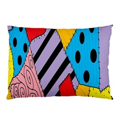 Sally s Patchwork Pattern Pillow Case