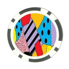 Sally s Patchwork Pattern Poker Chip Card Guard (10 Pack) by Alisyart