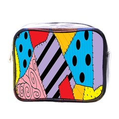Sally s Patchwork Pattern Mini Toiletries Bags