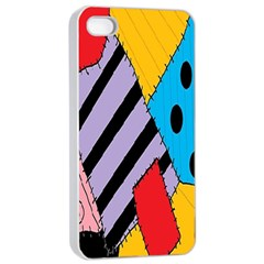 Sally s Patchwork Pattern Apple Iphone 4/4s Seamless Case (white)